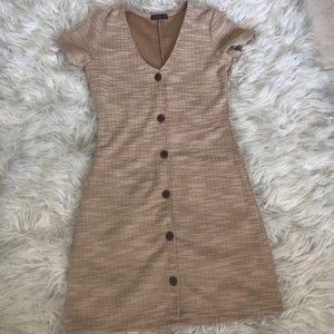 Textured button down dress